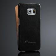 SAMSUNG GALAXY S6 edge læder cover, sort Mobiltelefon tilbehør
