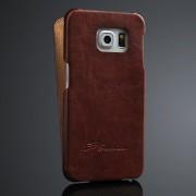 SAMSUNG GALAXY S6 edge læder cover, moccabrun Mobiltelefon tilbehør