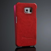 SAMSUNG GALAXY S6 edge læder cover, rød Mobiltelefon tilbehør