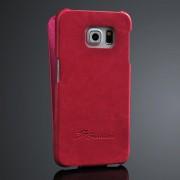SAMSUNG GALAXY S6 edge læder cover, rosa Mobiltelefon tilbehør
