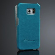 SAMSUNG GALAXY S6 edge læder cover, blå Mobiltelefon tilbehør