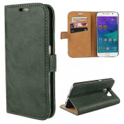 SAMSUNG GALAXY S6 edge læder pung cover grøn, Mobiltelefon tilbehør