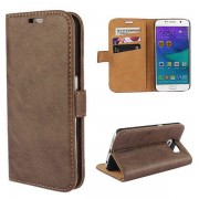 SAMSUNG GALAXY S6 edge læder pung cover moccabrun, Mobiltelefon tilbehør