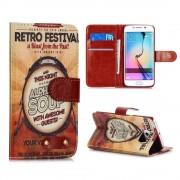 SAMSUNG GALAXY S6 edge vintage pung cover Mobiltelefon tilbehør