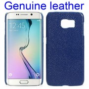 SAMSUNG GALAXY S6 edge læder bag cover mørkeblå Mobiltelefon tilbehør
