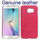 SAMSUNG GALAXY S6 edge læder bag cover rød Mobiltelefon tilbehør
