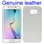 SAMSUNG GALAXY S6 edge læder bag cover hvid Mobiltelefon tilbehør