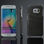 SAMSUNG GALAXY S6 edge læder bag cover med kort holder Mobiltelefon tilbehør