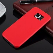 SAMSUNG GALAXY S6 edge bag cover i klassisk look rød, Mobiltelefon tilbehør