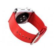 APPLE WATCH 42 MM læder urrem med montage beslag. Rød Smartwatch tilbehør