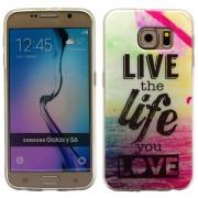 SAMSUNG GALAXY S6 ultra tynd bag cover med mønster, 9 Mobiltelefon tilbehør