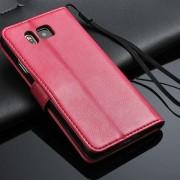 SAMSUNG GALAXY ALPHA læder pung cover rosa Mobiltelefon tilbehør