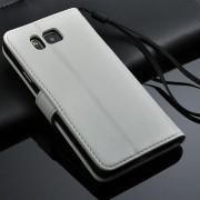 SAMSUNG GALAXY ALPHA læder pung cover hvid Mobiltelefon tilbehør