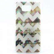 SAMSUNG GALAXY ALPHA ultra tynd bag cover med mønster Mobiltelefon tilbehør