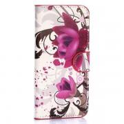 SAMSUNG GALAXY S6 edge læder pung cover med mønster Mobiltelefon tilbehør