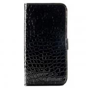 SAMSUNG GALAXY S6 edge læder cover med krokodille mønster og kort holder Mobiltelefon tilbehør
