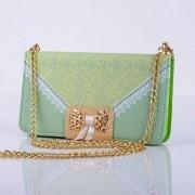 SAMSUNG GALAXY S5 MINI læder pung cover / taske med mønster grøn Mobiltelefon tilbehør