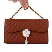 SAMSUNG GALAXY S5 læder pung cover / taske med mønster Mobiltelefon tilbehør