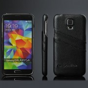 SAMSUNG GALAXY S5 bag cover med kort holder sort Mobiltelefon tilbehør