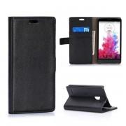 LG G3 STYLUS læder pung cover sort Mobiltelefon tilbehør
