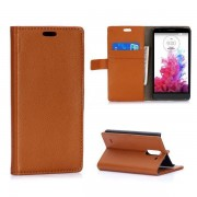 LG G3 STYLUS læder pung cover brun Mobiltelefon tilbehør