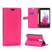 LG G3 STYLUS læder pung cover rosa Mobiltelefon tilbehør