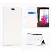 LG G3 STYLUS læder pung cover hvid Mobiltelefon tilbehør