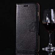 IPHONE 6 / 6S PLUS premium læder cover med kort lommer, sort Mobiltelefon tilbehør