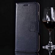 IPHONE 6 / 6S PLUS premium læder cover med kort lommer, mørkeblå Mobiltelefon tilbehør