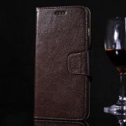 IPHONE 6 / 6S PLUS premium læder cover med kort lommer, moccabrun Mobiltelefon tilbehør