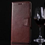 IPHONE 6 / 6S PLUS premium læder cover med kort lommer, mørkebrun Mobiltelefon tilbehør