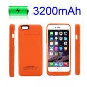 IPHONE 6 / 6S batteri cover orange Mobiltelefon tilbehør