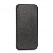 IPHONE 6 / 6S premium læder cover, sort Mobiltelefon tilbehør