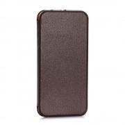IPHONE 6 / 6S premium læder cover, moccabrun Mobiltelefon tilbehør