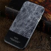 IPHONE 6 / 6S kajsa Snake Skin mønstret læder cover, sølv Mobiltelefon tilbehør