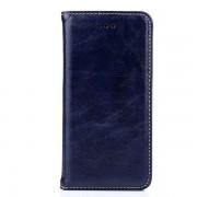 IPHONE 6 / 6S læder cover med flip stand og kort holder, mørkeblå Mobiltelefon tilbehør