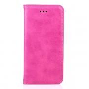 IPHONE 6 / 6S læder cover med flip stand og kort holder, rosa Mobiltelefon tilbehør