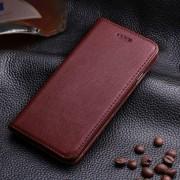IPHONE 6 / 6S læder cover med kort holder, rødbrun Mobiltelefon tilbehør
