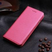 IPHONE 6 / 6S læder cover med kort holder, rosa Mobiltelefon tilbehør
