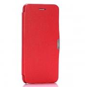 IPHONE 6 / 6S fashion læder cover, rød Mobiltelefon tilbehør