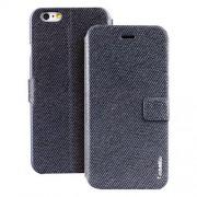 IPHONE 6 / 6S ifashion premium læder cover, mørkeblå Mobiltelefon tilbehør