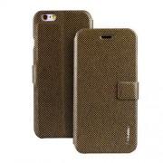 IPHONE 6 / 6S ifashion premium læder cover, moccaguld Mobiltelefon tilbehør