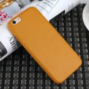 IPHONE 6 / 6S bag cover i klassisk look orangebrun Mobiltelefon tilbehør