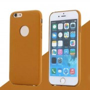 IPHONE 6 / 6S bag cover i klassisk look med logo orangebrun Mobiltelefon tilbehør