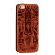 IPHONE 6 / 6S bag cover i træ med laser graveret mønster, pharaoh Mobiltelefon tilbehør