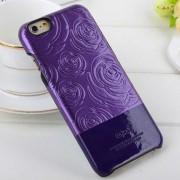 IPHONE 6 / 6S Kajsa 3D rose mønstret bag cover, lilla Mobiltelefon tilbehør