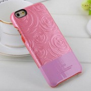 IPHONE 6 / 6S Kajsa 3D rose mønstret bag cover, pink Mobiltelefon tilbehør