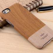 IPHONE 6 / 6S Kajsa wood grain bag cover, beige Mobiltelefon tilbehør