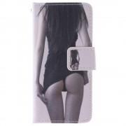 IPHONE 5S læder pung cover med mønster Mobiltelefon tilbehør