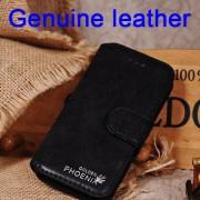 IPHONE SE 5S retro vintage læder cover sort Mobiltelefon tilbehør